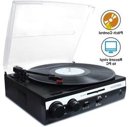 3 speed turntable vinyl lp record player