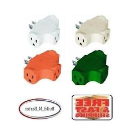 3-Way Splitter Adapter Electric Plug Wall Outlet Three Prong