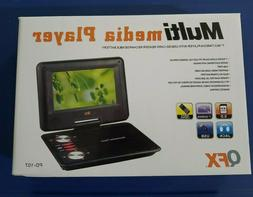 "QFX PDT-307DTV 7"" Portable DVD/CD Player TV +Rechargeable +U"