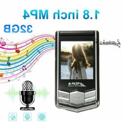 """32G MP3 MP4 Music Player With 1.8"""" LCD Screen FM Radio Video"""