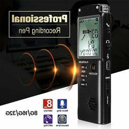 32G Voice Recorder Dictaphone Activated Mini Spy Digital Sou