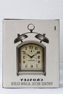 Crosley 33324 Vintage Metal Alarm Clock