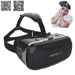 Tepoinn 3D VR Glasses Headset with Adjustable Lens and Strap