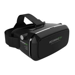 3D VR Glasses Headset with Adjustable Lens and Strap for 3.5