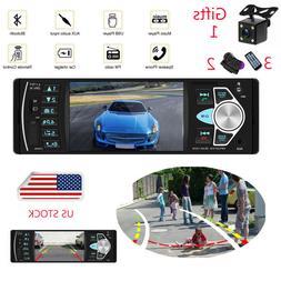 "4.1"" 1 DIN Car Stereo Bluetooth FM Auto Radio Audio MP3 Play"