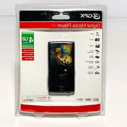 GPX 4 GB Digital Media MP3 Player - Black  BRAND NEW Origina