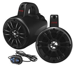 Boss 4 Marine 2-Way Wake Tower Speaker Bluetooth Black Pair