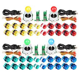 EG Starts 4 Player Classic DIY Arcade Joystick Kit Parts USB