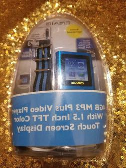 Craig 4GB  TFT Touch Color Screen MP4/MP3 Video Player Blue