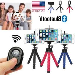 """5.5"""" Flexible Smartphone Tripod + Bluetooth Remote for iPhon"""