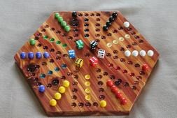 6 player Aggravation made of solid Cedar not stained