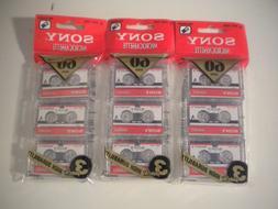 Sony 60 Minute Blank Microcassette Tapes MC-60, Set of 3 PKG