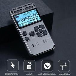 64GB Rechargeable LCD Digital Audio Sound Voice Recorder Dic