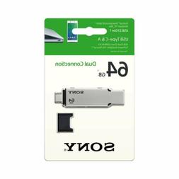 Sony 64GB USB 3.1 Gen 1 USB Type-C and Type -A USB Drive USM