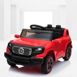 6V Kids Ride On Car w/Parent Control 3 Speeds LED Headlights