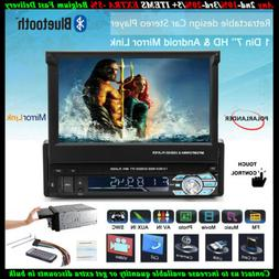 7''1 Din Car Radio Touch Screen FM Bluetooth Flip Out Screen
