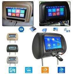 7'' 12V Car Monitor Headrest Pillow Display DVD Player/Bluet