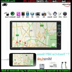 7'' 2 Din Car Radio Bluetooth Touch Screen Stereo MP5 Player