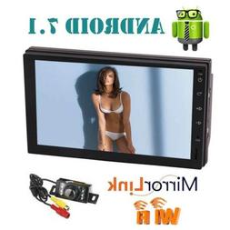 "7"" 2 Din Car Stereo Radio Android OS GPS Navigation Bluetoot"