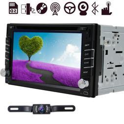 "7"" 2 Din Car Stereo Radio DVD Player GPS Navigation Bluetoot"