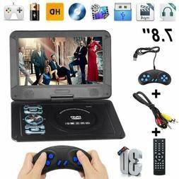 "7.8"" Portable DVD Player HD CD  FM Radio TV Player 16:9 LCD"