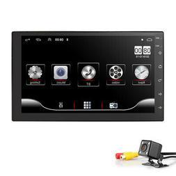 "7""Backup Camera+GPS Double Din Car Stereo Radio No DVD Playe"