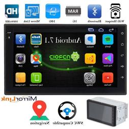 "7"" Double 2 DIN Android 7.1 WIFI 16G Car Radio Stereo MP5 Pl"