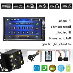 7'' Double 2 Din Car Stereo Bluetooth MP5 Radio Player Head