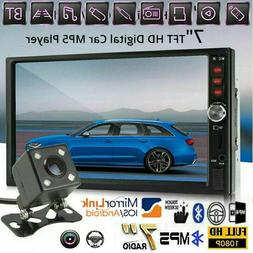 """7"""" Double 2 DIN Car Stereo GPS FM Radio MP5 Player HD Touch"""