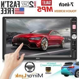"7"" Double 2DIN Car MP5 Player Bluetooth Touch Screen Stereo"