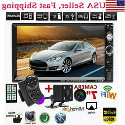 """7""""Double 2DIN Car MP5 Player Bluetooth Touch Screen Stereo R"""