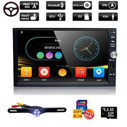 7''HD Car GPS Stereo Radio Player With Bluetooth SWC+ Free 8