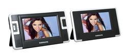 Sylvania 7 Inch Dual Screen Portable DVD/CD/MP3 Player SDVD8