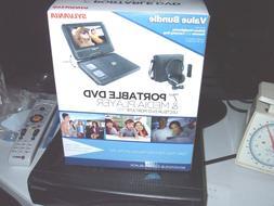 "Sylvania 7"" Portable DVD and MEDIA Player, Black, New In Box"