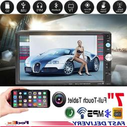 """7"""" Touch Screen Bluetooth Hands-free Car Stereo MP5 Player F"""