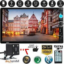 7010B 7 2Din HD Touch Screen Android IOS Car Stereo MP5 Play