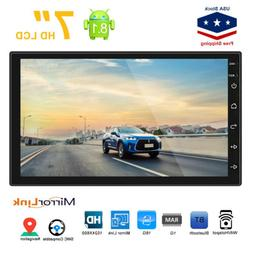 7in Android8.1 Double 2 Din HD Quad Core GPS WiFi Car Stereo
