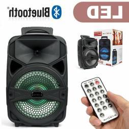 """8"""" 1000W Portable FM Wireless Speaker Subwoofer Heavy Bass S"""
