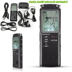 8 16 32G Rechargeable Digital Audio Sound Voice Recorder Dic