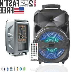 """8"""" Bluetooth Party BT Speaker Portable Stereo Travel Tailgat"""