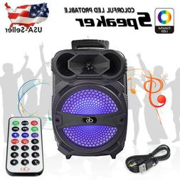 8 in BT Party Speaker System Bluetooth Big Led Portable Ster
