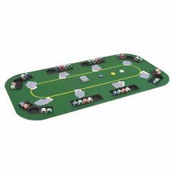 vidaXL 8-Player Folding Poker Tabletop 4 Fold Rectangular Gr