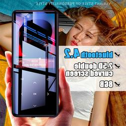 8GB Portable HiFi bluetooth Ultrathin Touch Screen Music MP3
