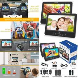 9.5'' Dual Screen DVD Player Portable Car Headrest Players G