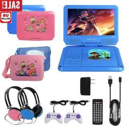 "Kids 9"" Portable DVD Player CD TV VCD Video Swivel Screen US"