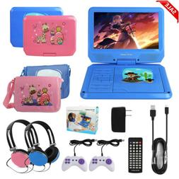 "KOCASO 9"" Kids Portable DVD Player + Headphones Game Control"