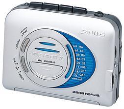 Aiwa HS-TA403 AM/FM Cassette Stereo, Auto Reverse, Super Bas