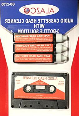 Audio Tape Cassette Head Cleaner w/ 3 Cleaning Fluids Care W