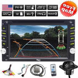 Backup Camera&GPS Double 2*Din Car Stereo Radio CD DVD Playe