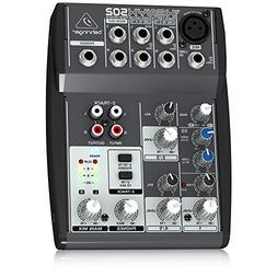 Behringer Xenyx 502 Premium 5-Input 2-Bus Mixer with XENYX M